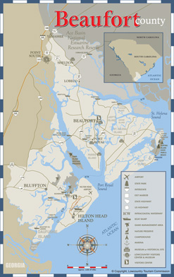 Beaufort County Area Map
