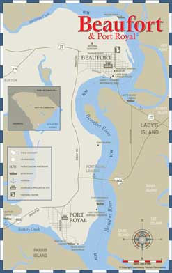 City of Beaufort/Port Royal Area Map