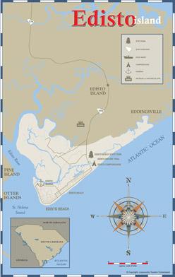 Edisto Island Map