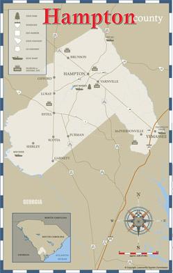Hampton County Area Map