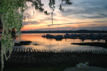 Port Royal Landing Marina July dawn