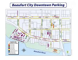Beaufort Downtown Parking Map
