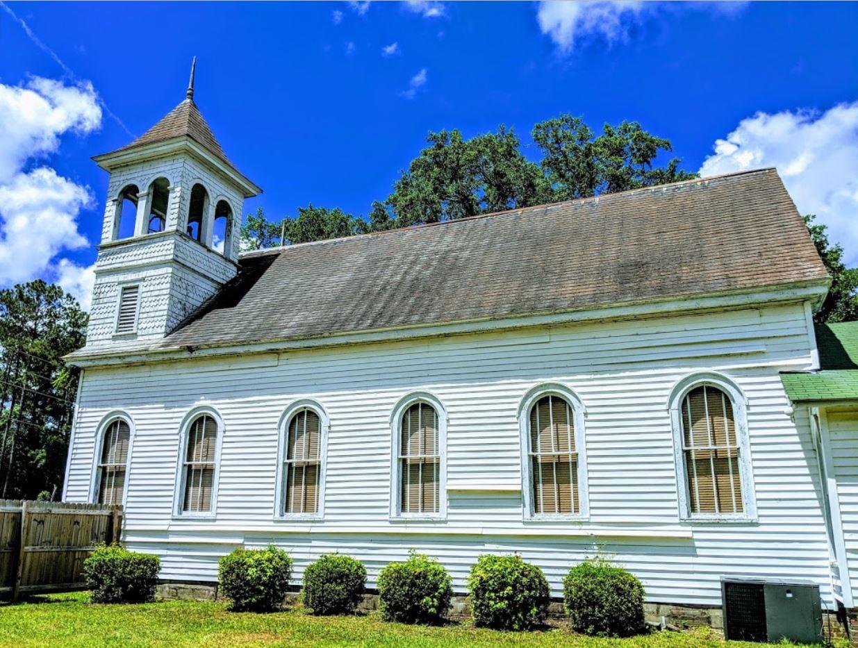 Side view of Euhaw Baptist Church