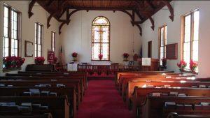 interior view of holy trinity church