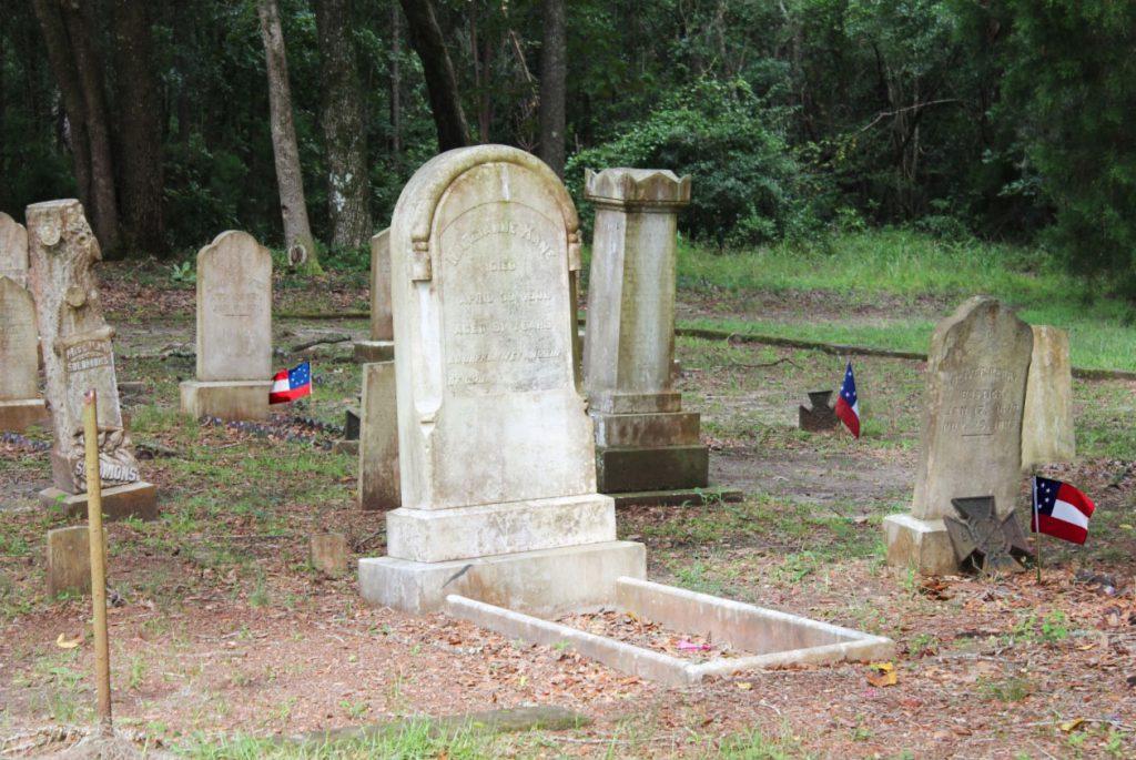 Tombstone in Robertville Baptist Cemetery