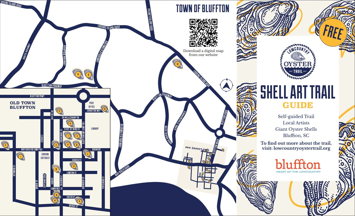 map of shell art trail