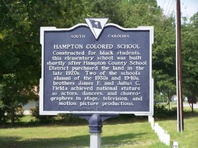 hampton colored school marker