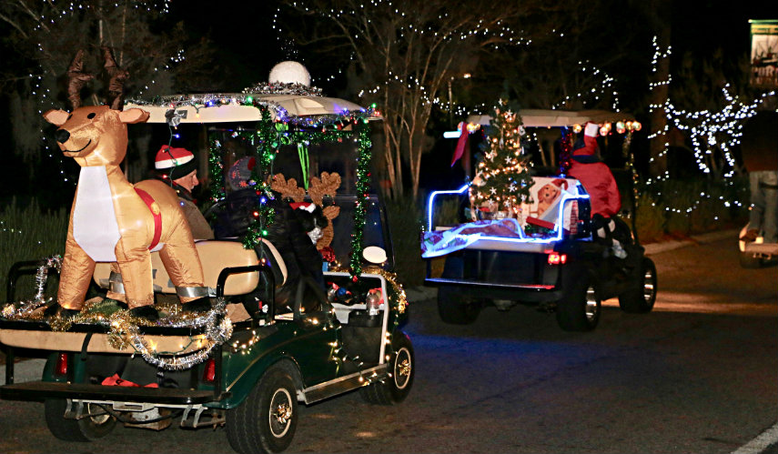 port royal christmas golf cart parade