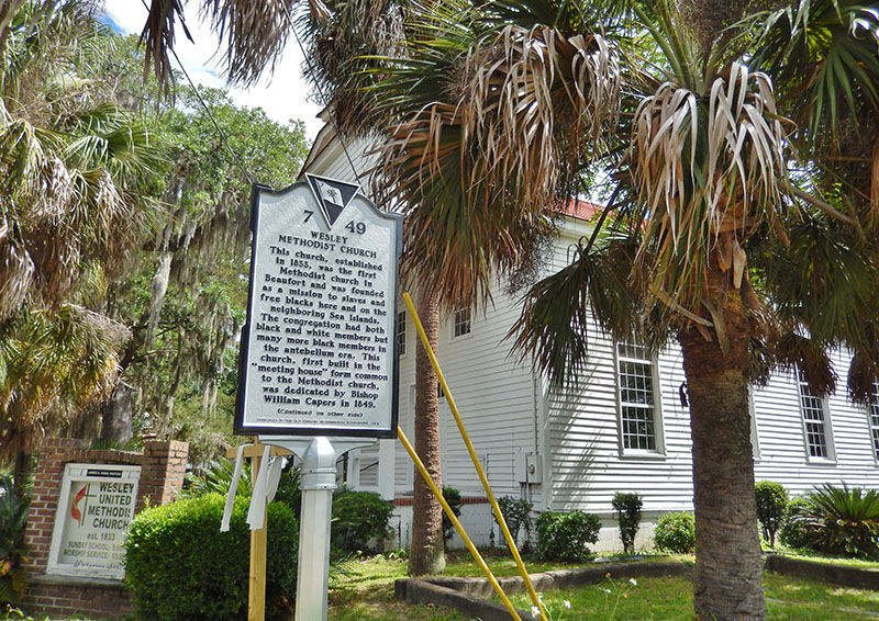 historic methodist church beaufort sc