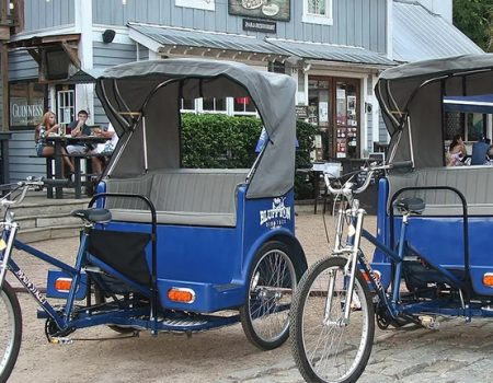 Park the Car and Hail a Pedicab for Free in Bluffton's Historic District