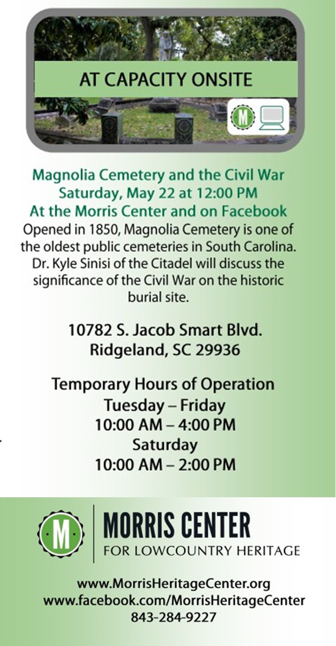 Virtual Event: Magnolia Cemetery and the Civil War | May 22, 2021